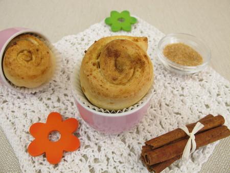 Cinnamon Pinwheel cake muffins