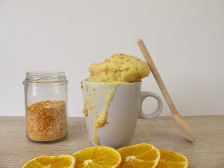 Mug from the microwave with orange peel