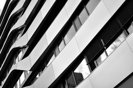 Facade of office building in the city center of Berlin
