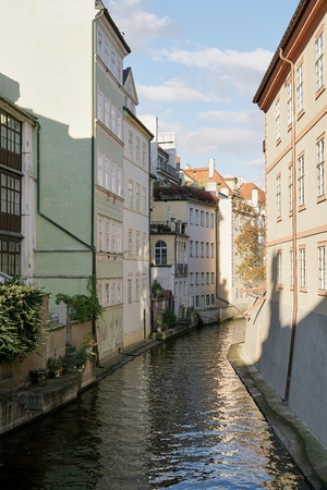 Canal on the Iceland of Kampa in the old town of Prague