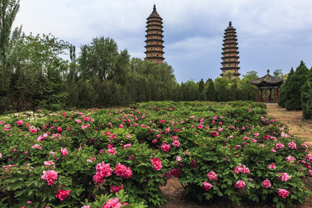 Photo pour Scenery of Yongji Temple, Taiyuan, Shanxi, China - image libre de droit