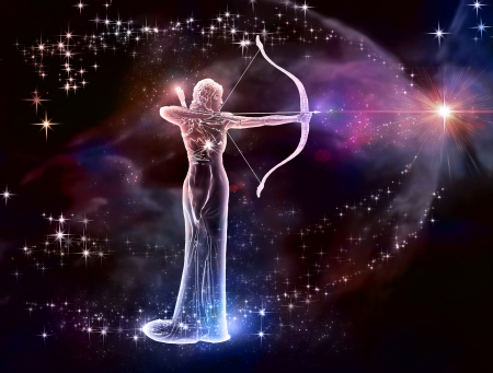 If your sign is Sagittarius, this image is for you  Archer is a fire sign  Cosmic Fire, a warrior of the universe