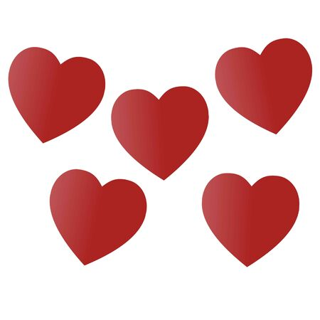 Photo pour Valentine's Day. Colorful,multicolored  hearts. Vector illustration. Abstract. Love - image libre de droit