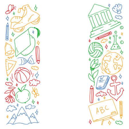 Illustration pour Back to school. Creativity and imagination. - image libre de droit
