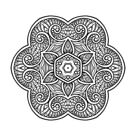 Floral Swirl Mandala