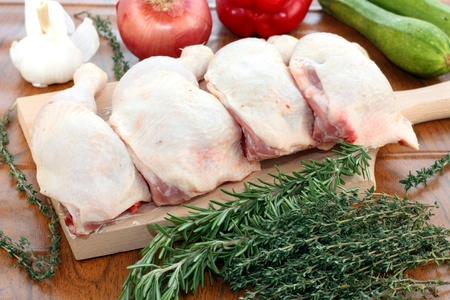 Chicken thighs for cooking a casserole