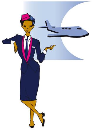 job series - asian stewardess