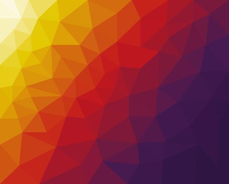 Illustration for vector backdrop with lines, triangles. Modern abstract illustration with colorful triangles. Vector - Royalty Free Image