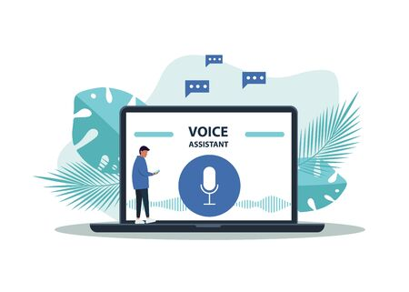 Ai Voice Assistant Speech Driven Modern User Interface Business Networks Concept Design Royalty Free Vector Graphics