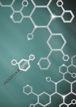 Molecule background   Vector illustration