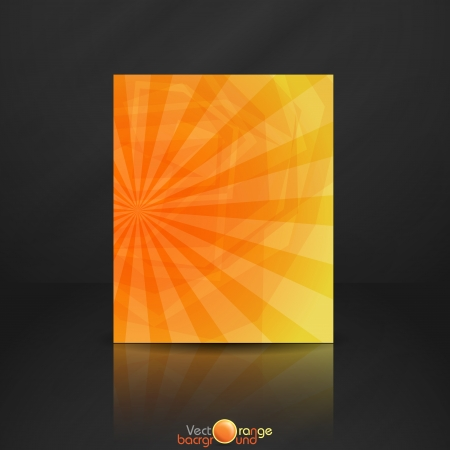 Illustration for Orange banner   Vector illustration   - Royalty Free Image