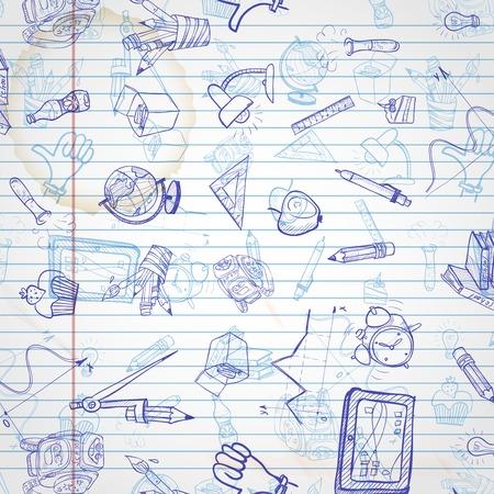 Illustration pour School Background - image libre de droit