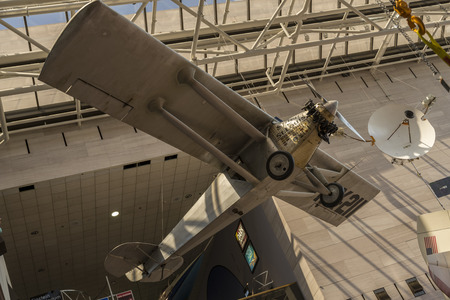 An Airplane Exhibit In Smithsonian Museum Washington Dc Royalty