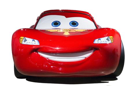 The star of pixar movie Cars, Lightning Mcaquuen