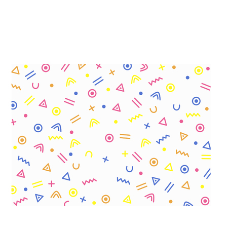 Cartoon squiggle and shapes background