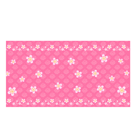 Cartoon Pink Floral Pattern