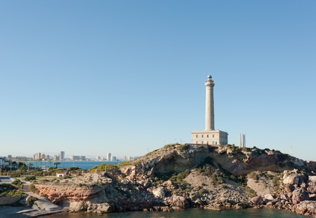 La Mang del Mar Menor, Murcia, Spain, as seen from Cabo de palos lighthouse