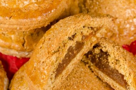 Closeup take of freshly made pumpkin cookies