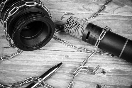 Foto de Threats against freedom of press, a concept - Imagen libre de derechos