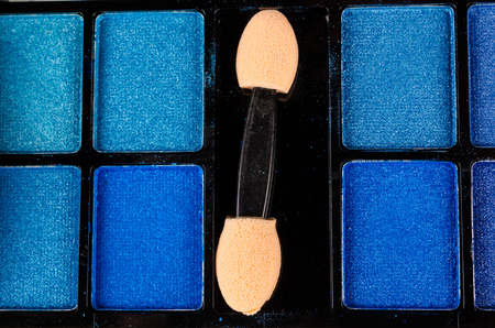 Makeup palette with various powder colorsの写真素材