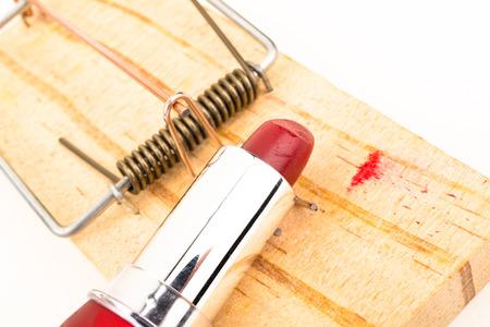 The mousetrap of seduction, a conceptual shot