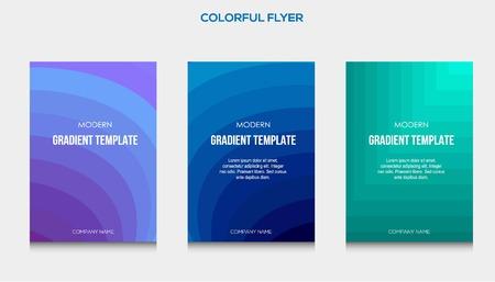 Illustration pour Colorful flyer and cover template design illustration eps 10 Vector - Vector - Vector - image libre de droit