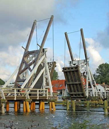 Open historic bridge in Eldena (North Germany)  02