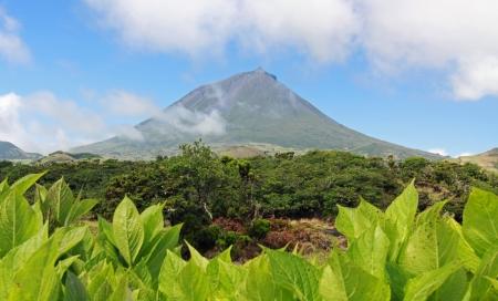 Volcano Mount Pico at Pico island