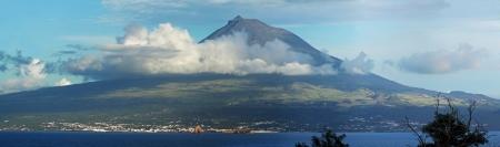 Volcano Mount Pico at Pico island,  Azores - Panorama