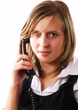 Young businesswoman having a phone call