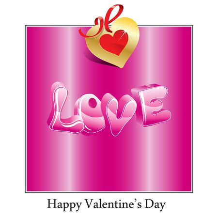 Illustration for Happy Valentines Day Card With Hearts - Royalty Free Image