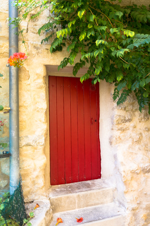 Beautiful red door in Greoux les Bains