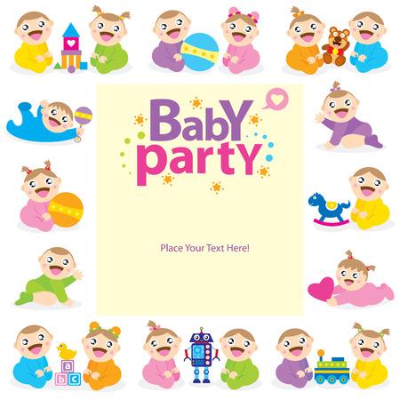 Illustration pour baby card design - image libre de droit