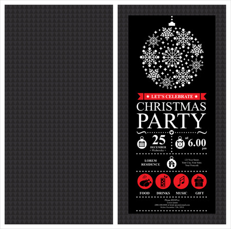 Illustration for Christmas Party Invitation Card - Royalty Free Image