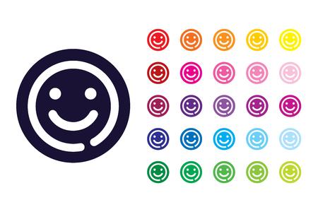 Happy sign icon. Happy color symbol.