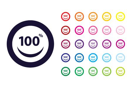 Smile customer sign icon. Smile customer color symbol.