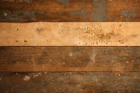 Grunge background of old, worn wood slats