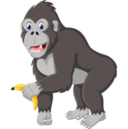 Illustration pour Angry gorilla cartoon - image libre de droit