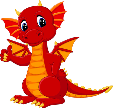 Illustration pour cute dragon cartoon - image libre de droit