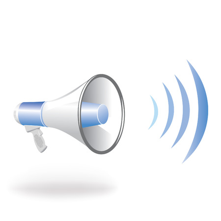 Loudspeaker vertical blue wave