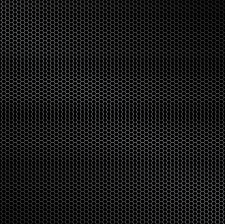Hexagon metal background with light reflection ideal wallpaper
