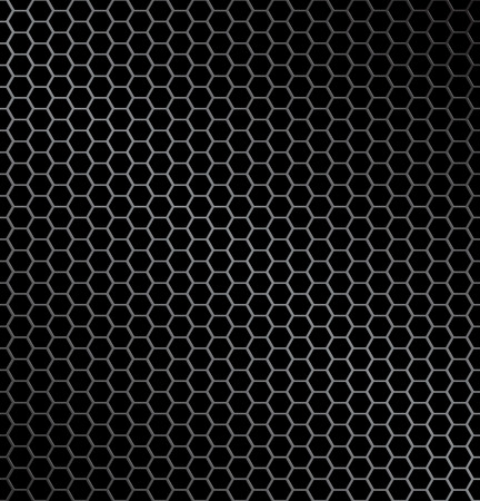 illustration of hexagon metal background with light reflection ideal texture