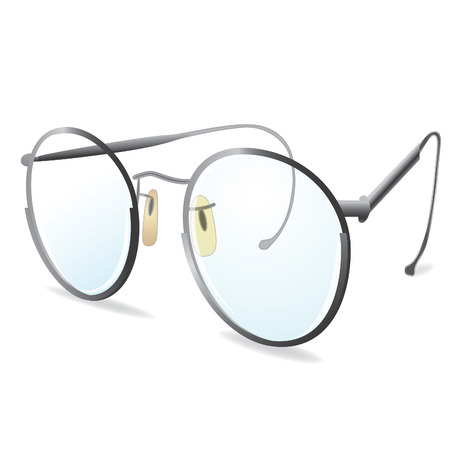Silver eye Glasses. Vector illustration. Element for design. eps10