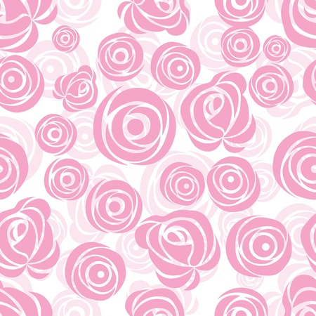 Seamless  flower background with rose, element for design, vector illustration.