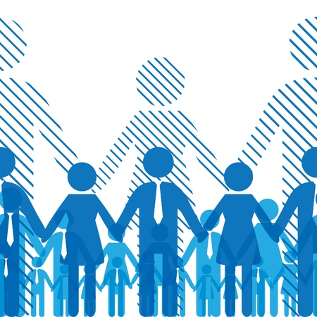 Foto für Business seamless gorizontal background friendship team people. Vector illustration - Lizenzfreies Bild