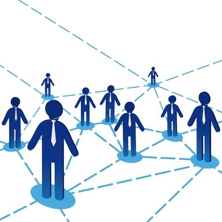 Business team people diagram background. Network internet communiation. Vector illustration