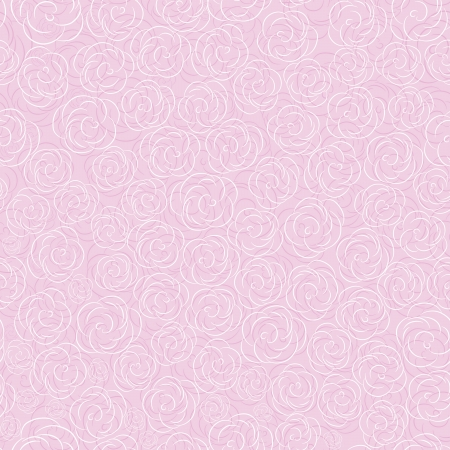 Illustration pour Pink vector rose seamless flower background pattern, floral vintage illustration. Cute backdrop. - image libre de droit