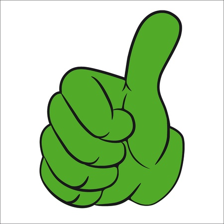 Art vector hand gesture with thumb up.