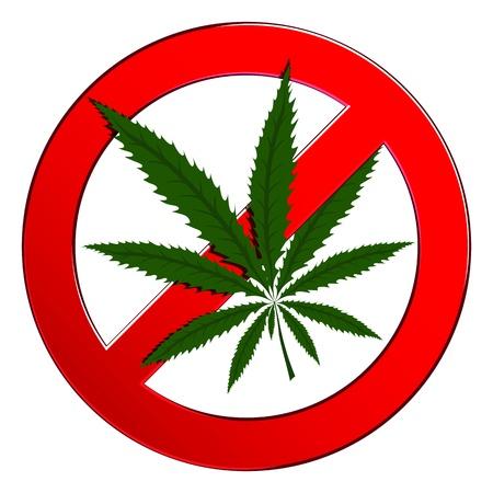 Sign forbidden circle drug cannabis  Symbol no narcotic