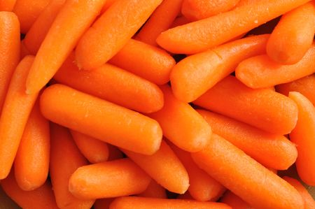 Close-up of Baby Carrots for a Background